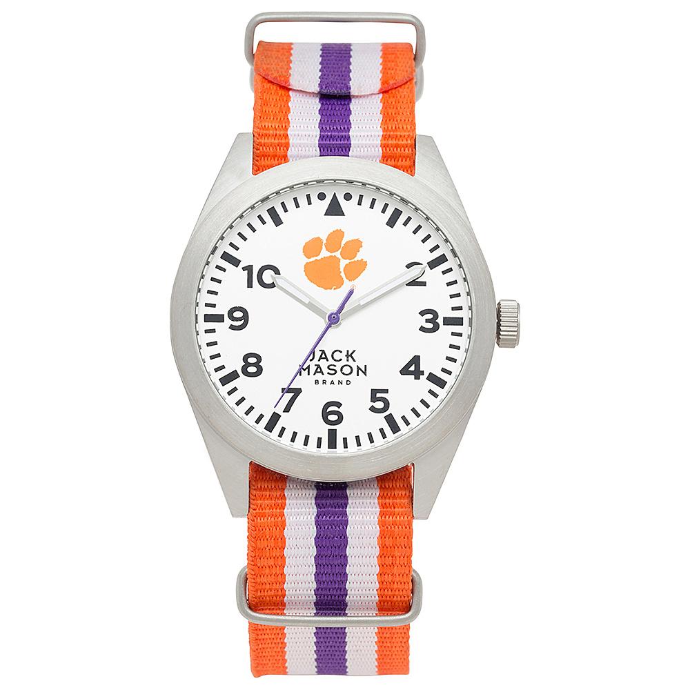 Jack Mason League NCAA Striped Nato Watch Clemson Tigers - Jack Mason League Watches - Fashion Accessories, Watches
