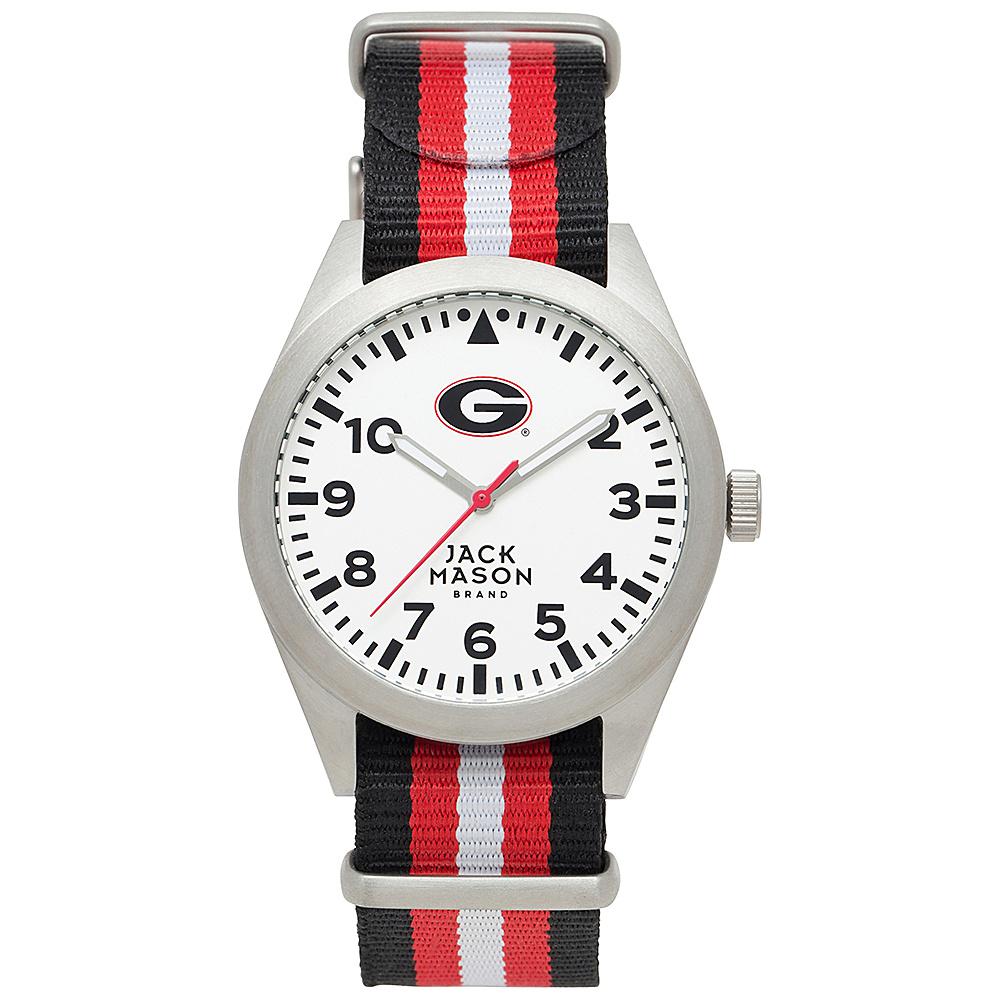 Jack Mason League NCAA Striped Nato Watch Georgia Bulldogs - Jack Mason League Watches - Fashion Accessories, Watches