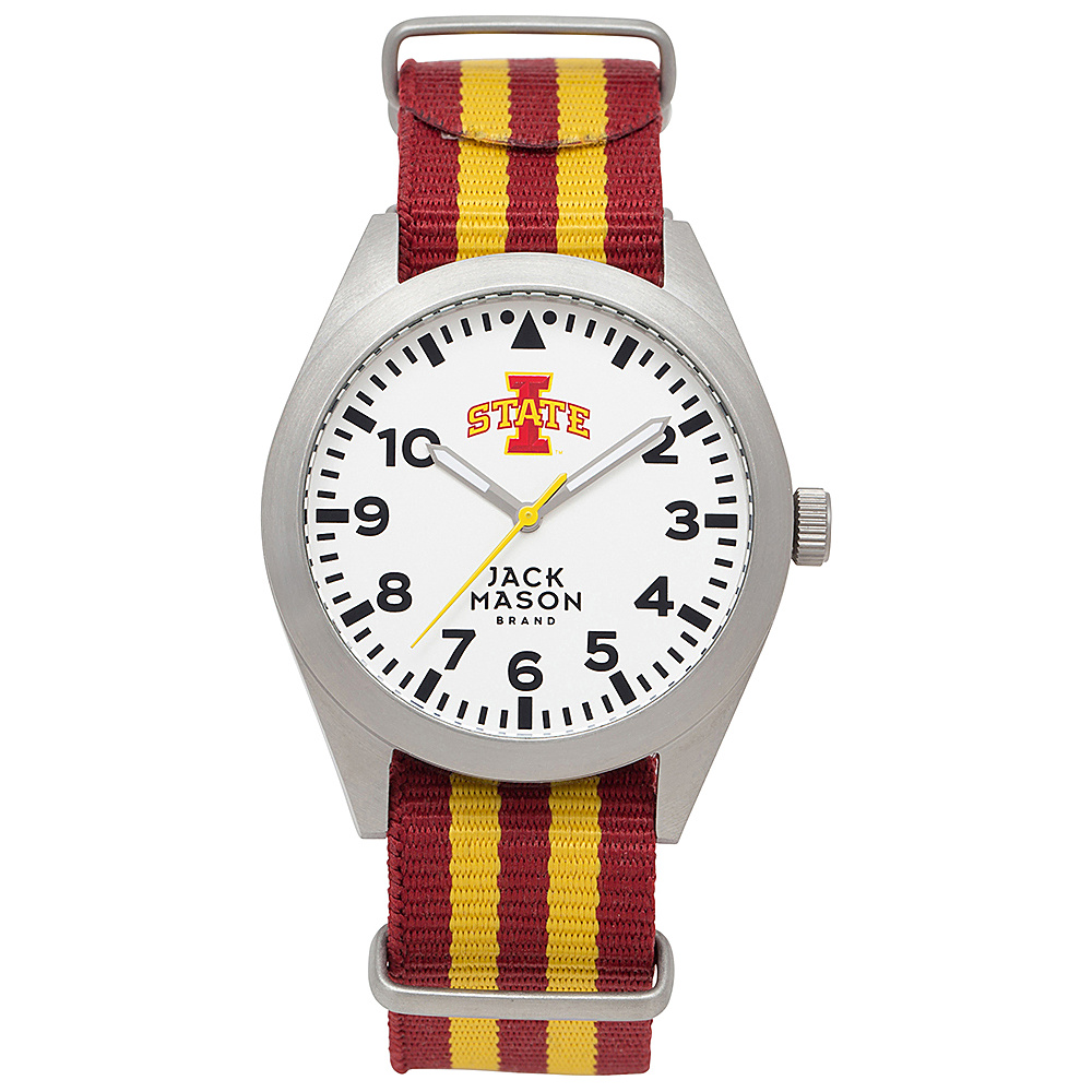 Jack Mason League NCAA Striped Nato Watch Iowa State Cyclones - Jack Mason League Watches - Fashion Accessories, Watches
