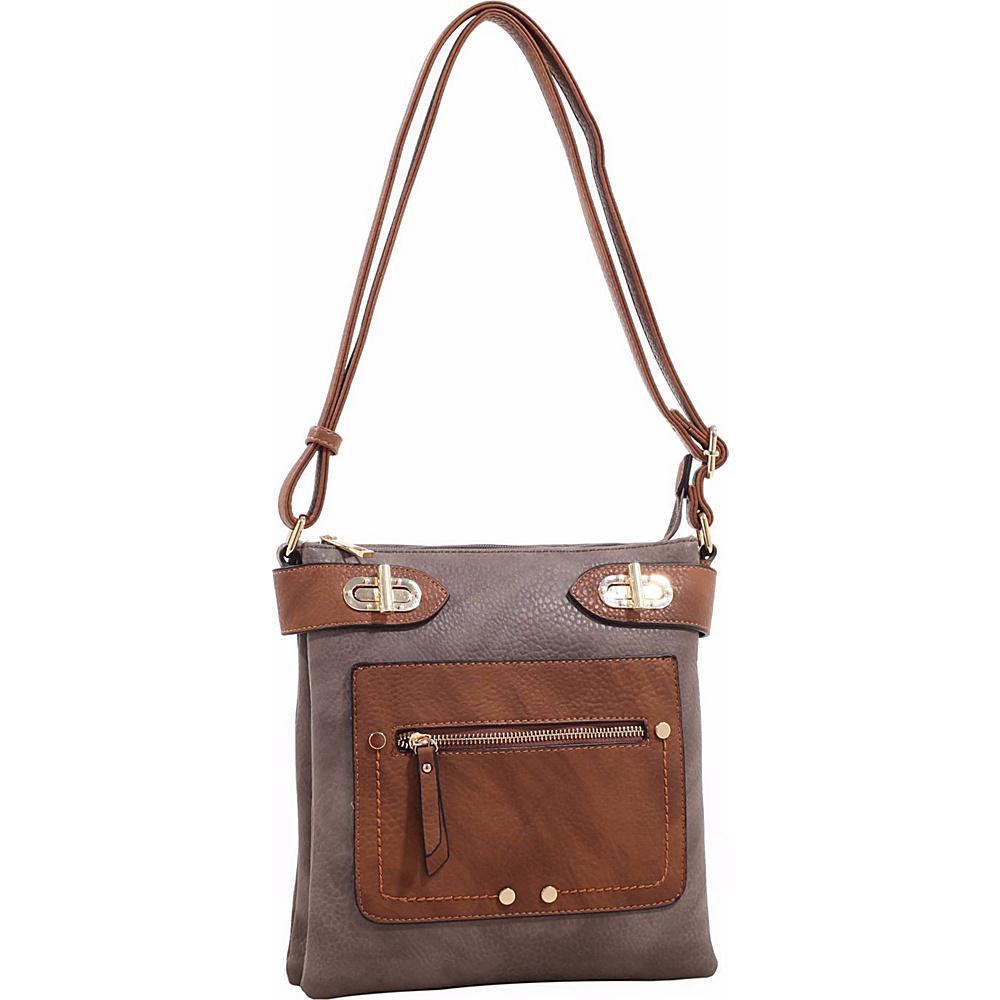 MKF Collection Laura Color Block Crossbody Stone - MKF Collection Manmade Handbags - Handbags, Manmade Handbags