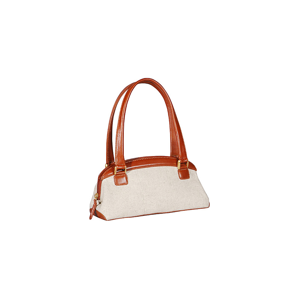 Derek Alexander E/W Twin Shoulder Bag Natural/Tan - Derek Alexander Fabric Handbags - Handbags, Fabric Handbags