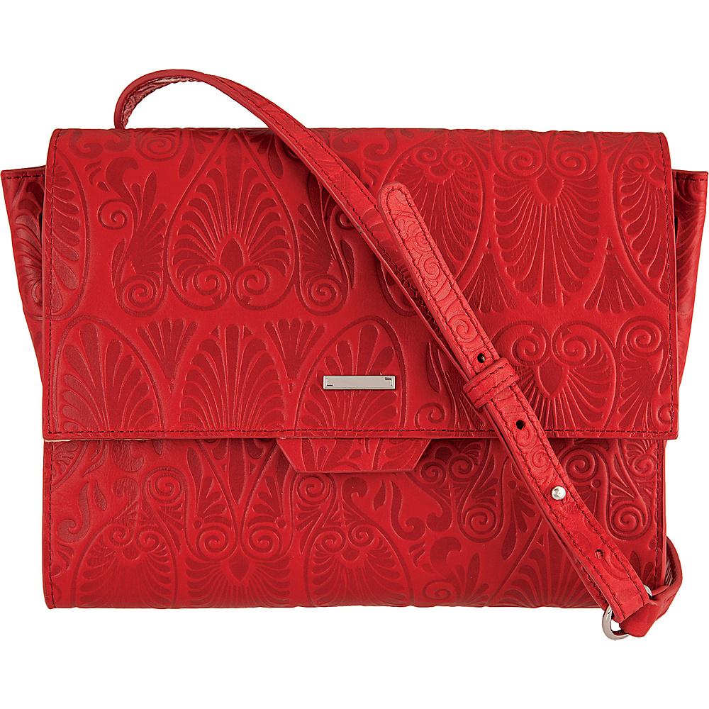 Lodis Denia Octavia Crossbody Red - Lodis Leather Handbags - Handbags, Leather Handbags