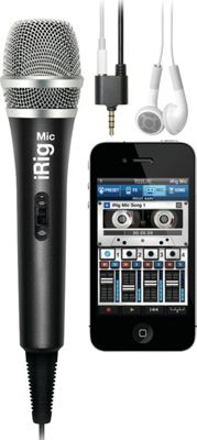 IK Multimedia iRig Mic Handheld Microphone for Smartphone/Tablet Black - IK Multimedia Electronic Accessories