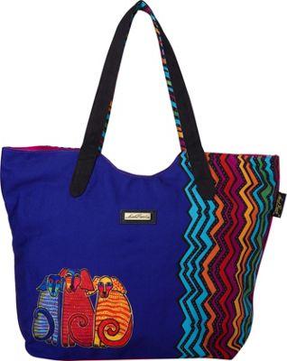 Laurel Burch Dog Tales Scoop Tote Dog Tales - Laurel Burch Fabric Handbags