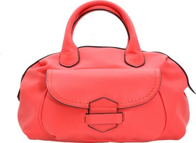 MoDa Buttersoft Satchel Coral - MoDa Manmade Handbags