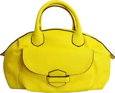 MoDa Buttersoft Satchel Lemon - MoDa Manmade Handbags