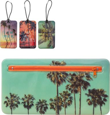 MyTagAlongs Endless Summer Travel Essentials - 3 Luggage Tags and Travel Pouch Summer - MyTagAlongs Luggage Accessories