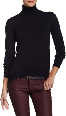 Rolo & Ale Devi Wool Turtleneck Sweater L - Navy - Rolo & Ale Women's Apparel