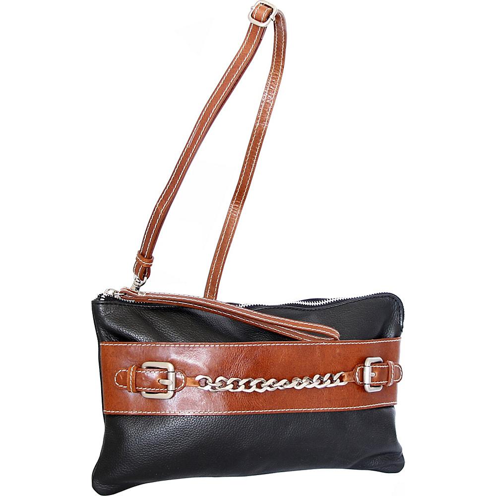 Nino Bossi Clarisse Convertible Clutch Black - Nino Bossi Leather Handbags - Handbags, Leather Handbags