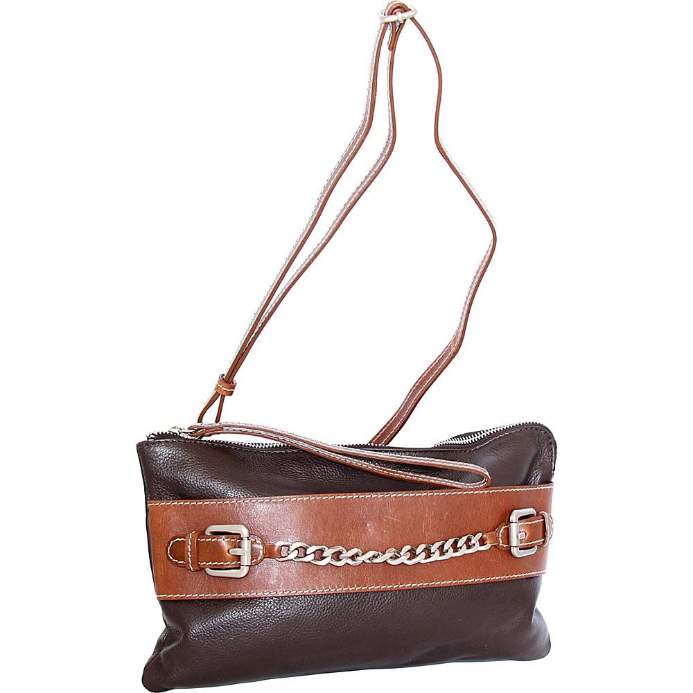 Nino Bossi Clarisse Convertible Clutch Chocolate - Nino Bossi Leather Handbags - Handbags, Leather Handbags