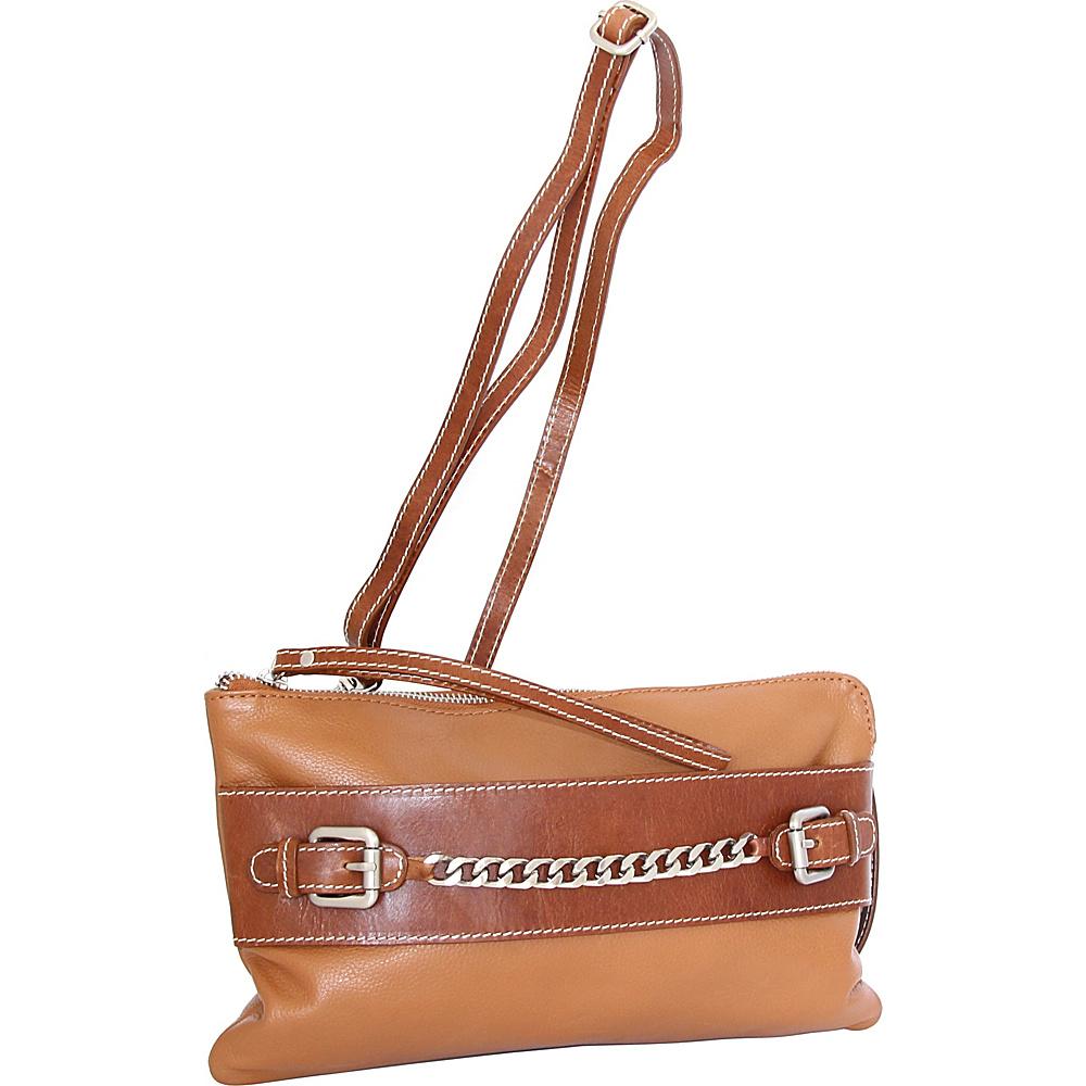 Nino Bossi Clarisse Convertible Clutch Cognac - Nino Bossi Leather Handbags - Handbags, Leather Handbags