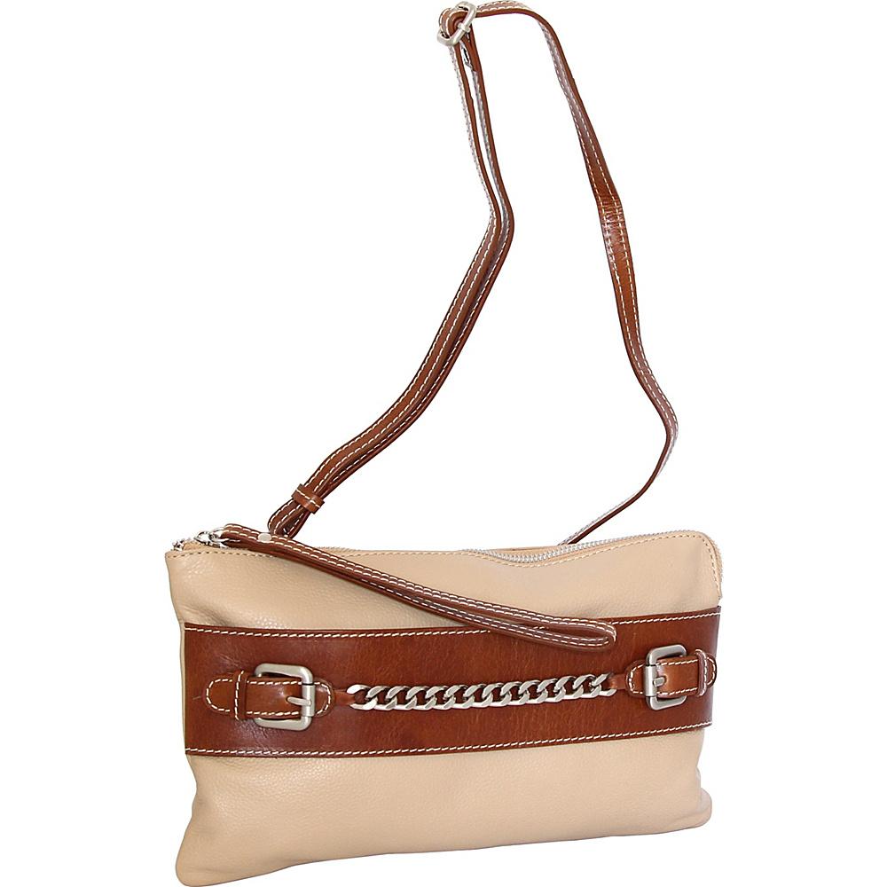 Nino Bossi Clarisse Convertible Clutch Sand - Nino Bossi Leather Handbags - Handbags, Leather Handbags