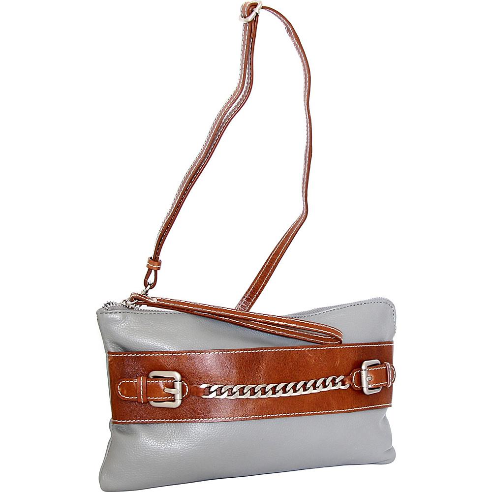 Nino Bossi Clarisse Convertible Clutch Stone - Nino Bossi Leather Handbags - Handbags, Leather Handbags