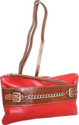 Nino Bossi Clarisse Convertible Clutch Tomato - Nino Bossi Leather Handbags