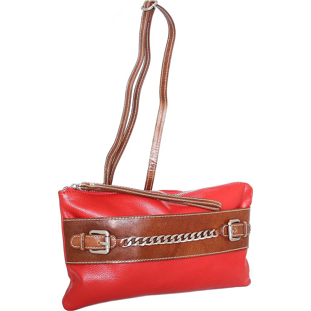 Nino Bossi Clarisse Convertible Clutch Tomato - Nino Bossi Leather Handbags - Handbags, Leather Handbags