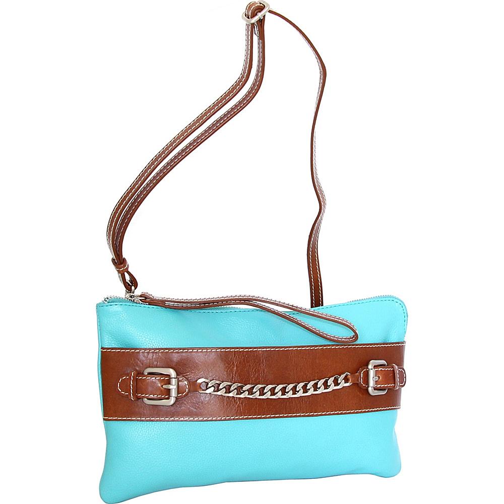 Nino Bossi Clarisse Convertible Clutch Turquoise - Nino Bossi Leather Handbags - Handbags, Leather Handbags