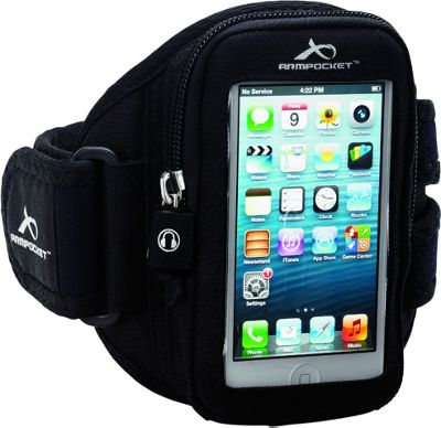 Armpocket Aero i-10 armband iPhone SE, iPhone 5, or other devices up to 5 inch. Medium Strap Length. Black - Armpocket Electronic Cases