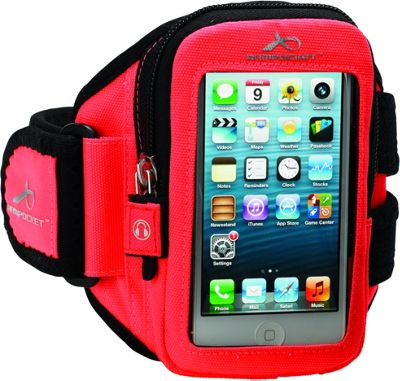 Armpocket Aero i-10 armband iPhone SE, iPhone 5, or other devices up to 5 inch. Medium Strap Length. Orange - Armpocket Electronic Cases
