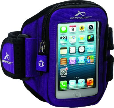Armpocket Aero i-10 armband iPhone SE, iPhone 5, or other devices up to 5 inch. Medium Strap Length. Purple - Armpocket Electronic Cases