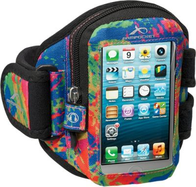 Armpocket Aero i-10 armband iPhone SE, iPhone 5, or other devices up to 5 inch. Medium Strap Length. Splash - Armpocket Electronic Cases