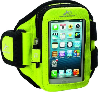 Armpocket Aero i-10 armband iPhone SE, iPhone 5, or other devices up to 5 inch. Medium Strap Length. Yellow - Armpocket Electronic Cases