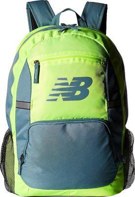 New Balance Accelerator Backpack Lime Glo - New Balance School & Day Hiking Backpacks
