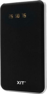 XIT Powerbank 6500 mAh Charger with LED Screen Black - XIT Electronic Accessories