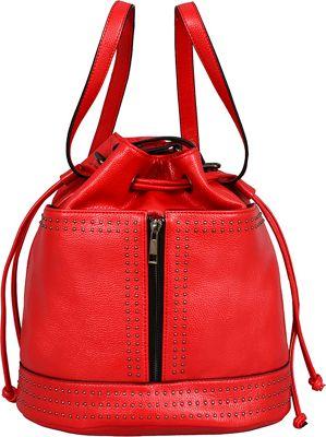 Mellow World Jill Backpack Handbag Red - Mellow World Manmade Handbags