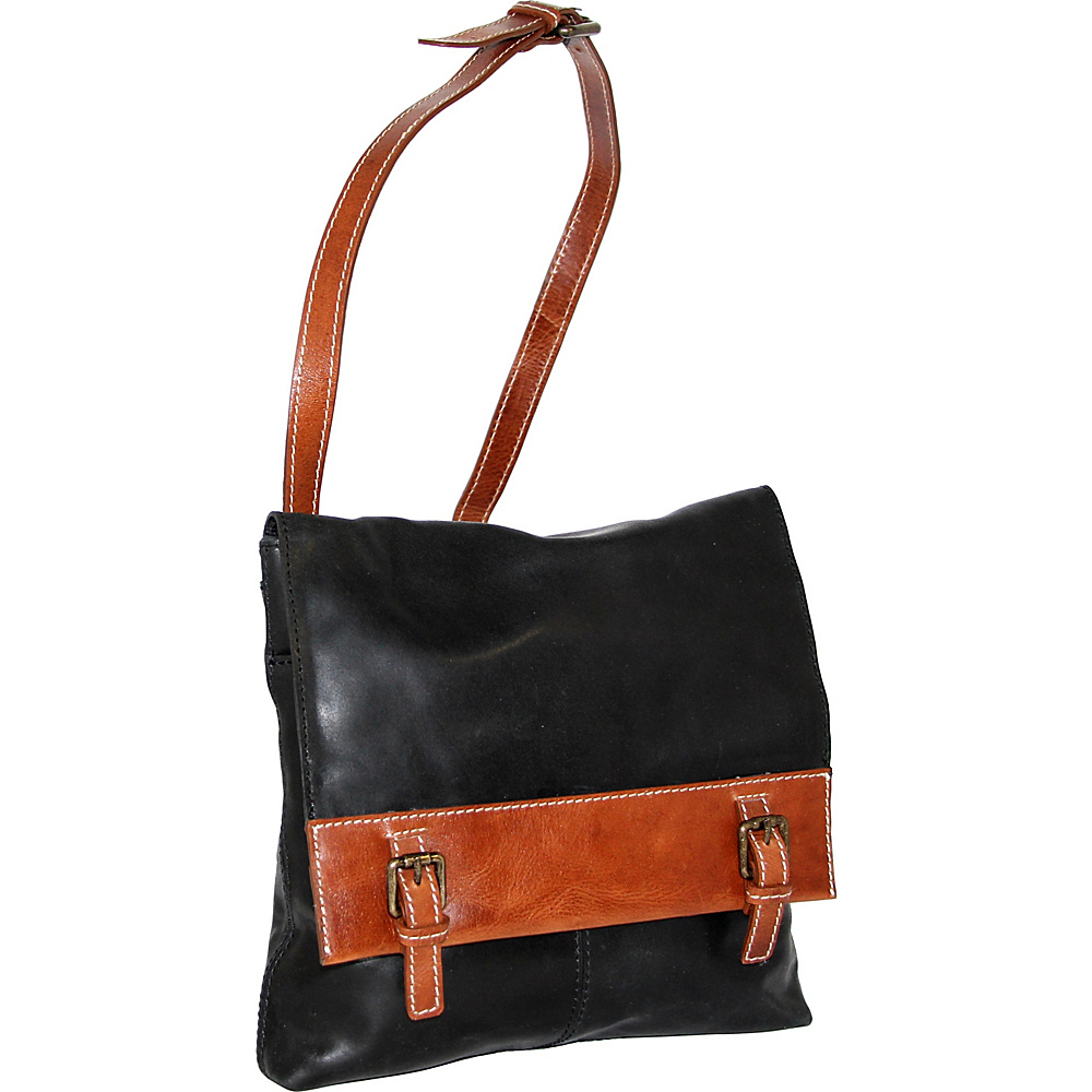 Nino Bossi Cristal Crossbody Bag Black - Nino Bossi Leather Handbags - Handbags, Leather Handbags