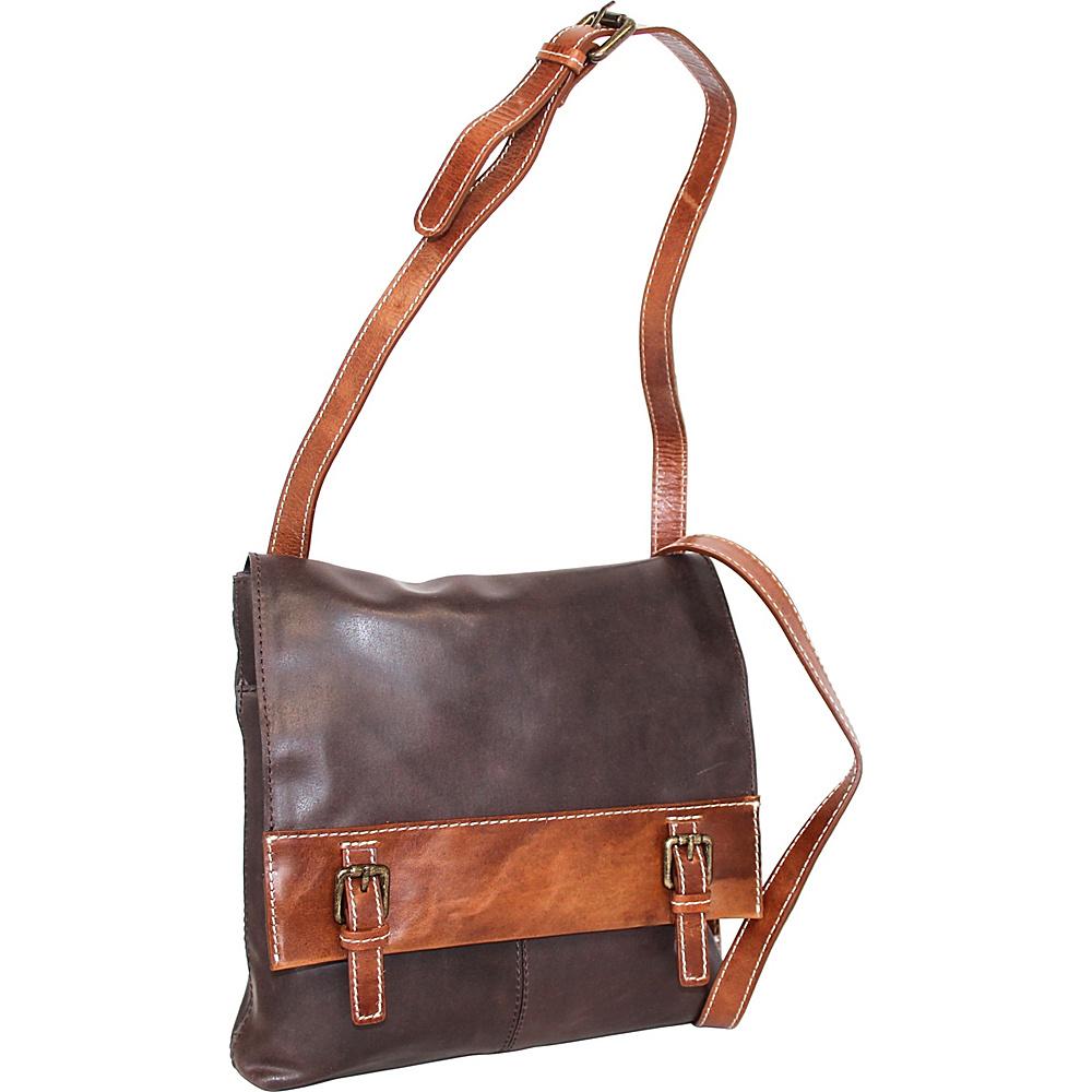 Nino Bossi Cristal Crossbody Bag Chocolate - Nino Bossi Leather Handbags - Handbags, Leather Handbags