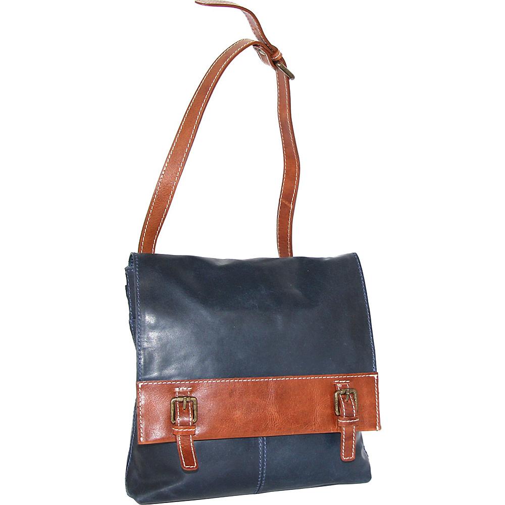 Nino Bossi Cristal Crossbody Bag Denim - Nino Bossi Leather Handbags - Handbags, Leather Handbags