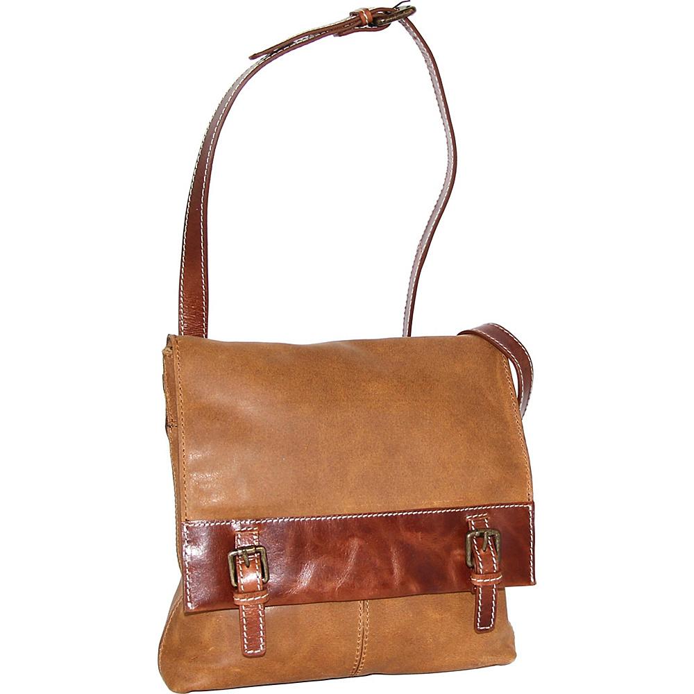 Nino Bossi Cristal Crossbody Bag Saddle - Nino Bossi Leather Handbags - Handbags, Leather Handbags