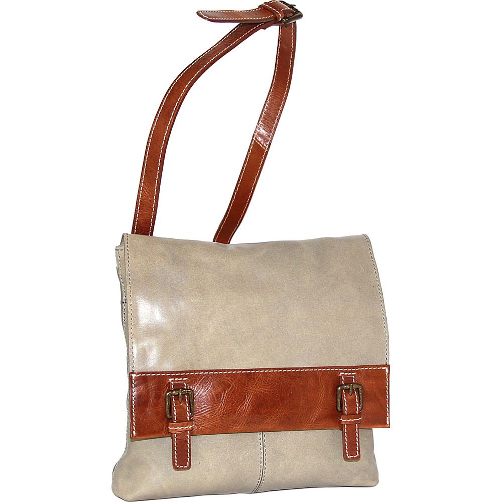 Nino Bossi Cristal Crossbody Bag Stone - Nino Bossi Leather Handbags - Handbags, Leather Handbags