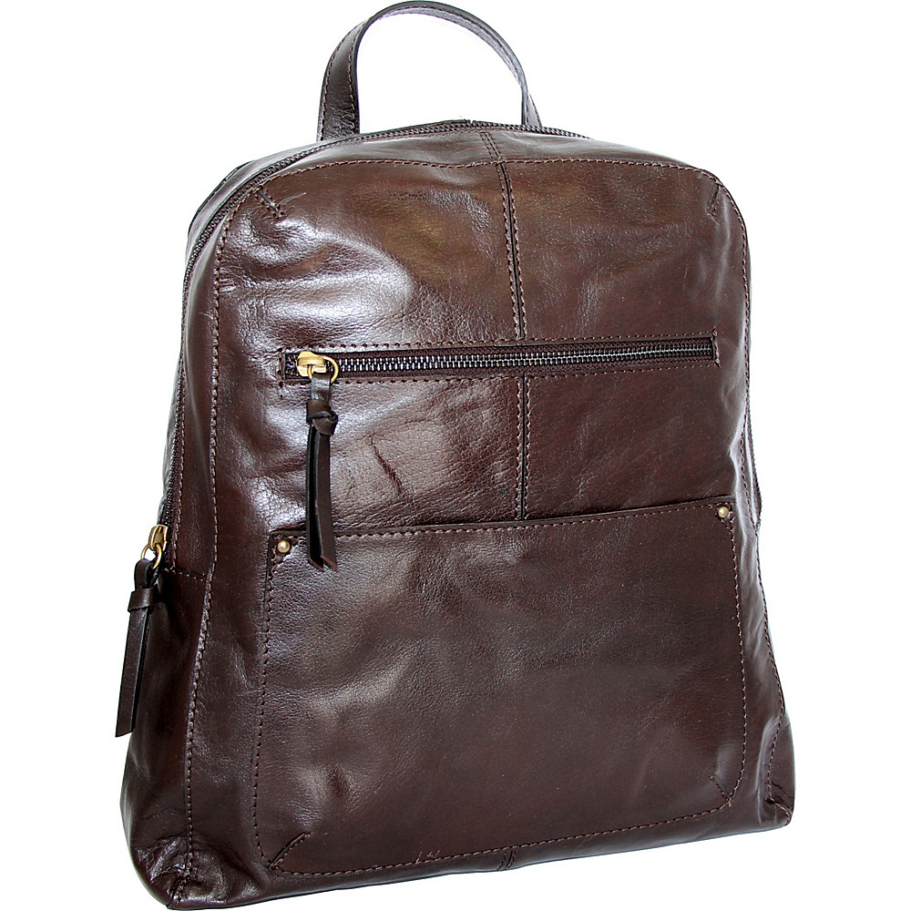 Nino Bossi Raven Backpack Chocolate - Nino Bossi Leather Handbags - Handbags, Leather Handbags