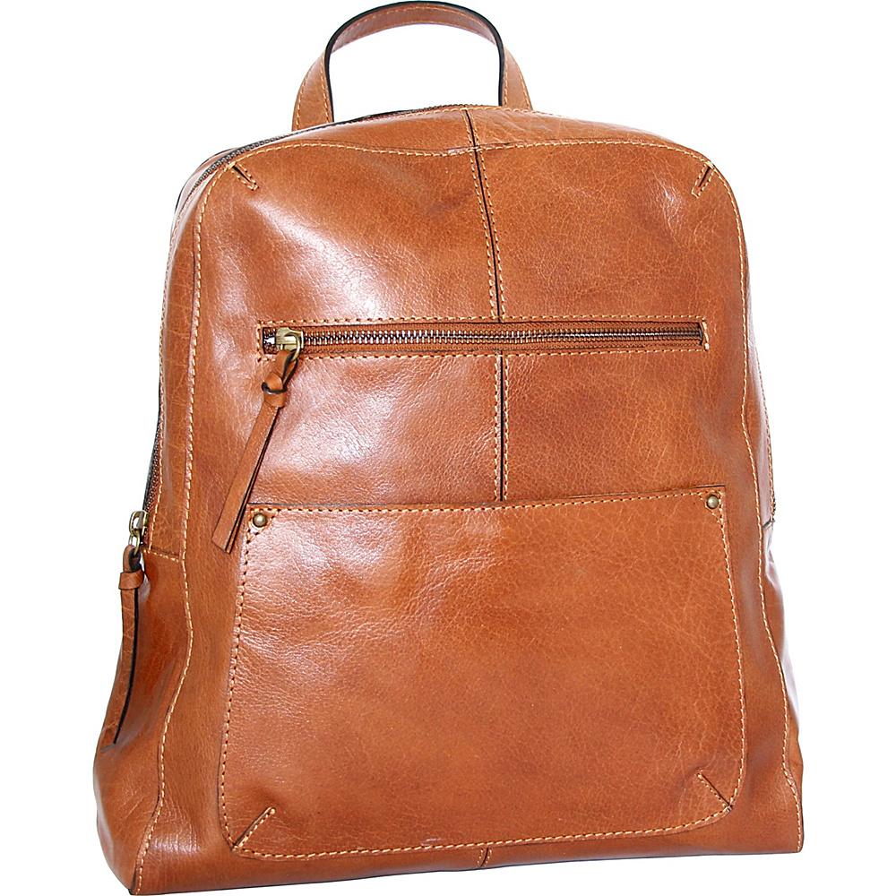 Nino Bossi Raven Backpack Cognac - Nino Bossi Leather Handbags - Handbags, Leather Handbags