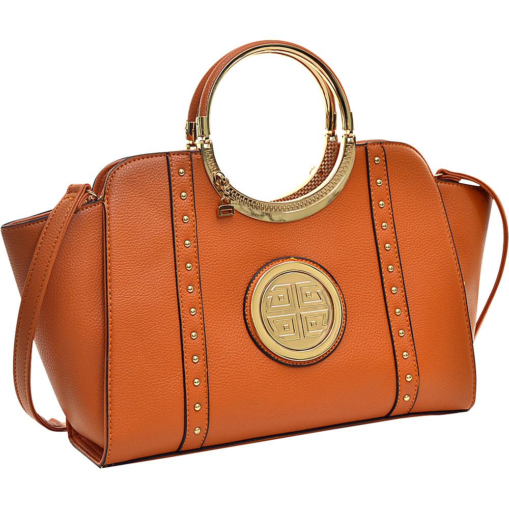 Dasein Studded Winged Emblem Satchel with Removable Shoulder Strap Orange - Dasein Gym Bags - Sports, Gym Bags