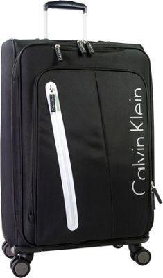 Calvin Klein Luggage Whitehall 4.0 31 inch Expandable Checked Spinner Luggage Black - Calvin Klein Luggage Softside Checked