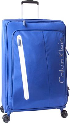 Calvin Klein Luggage Whitehall 4.0 31 inch Expandable Checked Spinner Luggage Blue - Calvin Klein Luggage Softside Checked