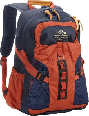 United by Blue 22L Tyest Hiking Laptop Pack Navy/Rust - United by Blue School & Day Hiking Backpacks