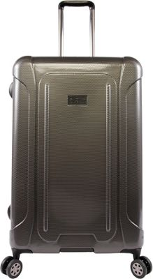 Original Penguin Luggage Crest 29 inch Expandable Hardside Checked Spinner Luggage Charcoal - Original Penguin Luggage Hardside Checked