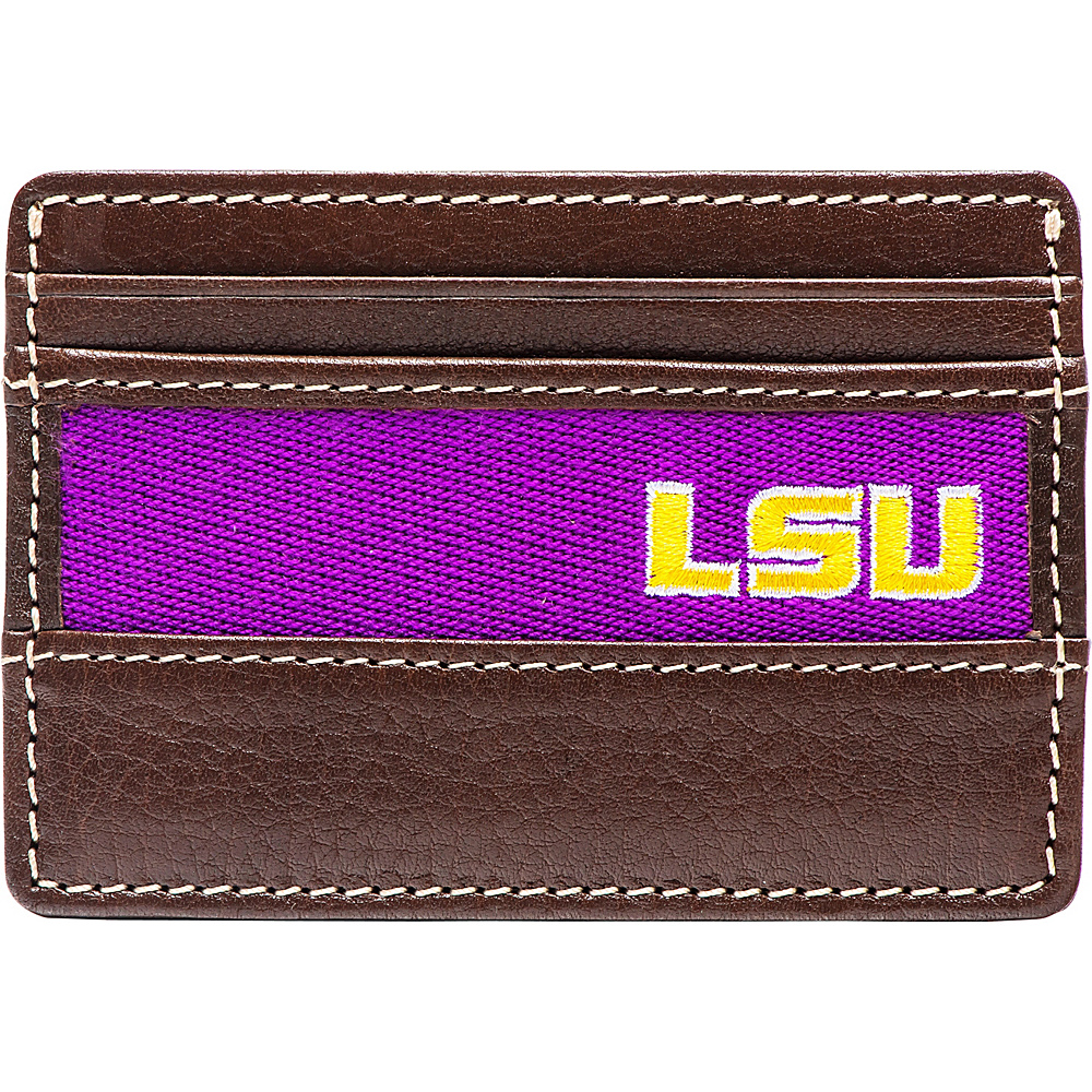 Jack Mason League NCAA Alumni ID Card Case LSU - Jack Mason League Mens Wallets - Work Bags & Briefcases, Men's Wallets