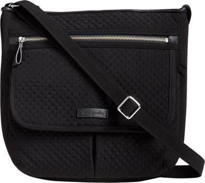 Vera Bradley Iconic Mailbag - Solids Classic Black - Vera Bradley Fabric Handbags