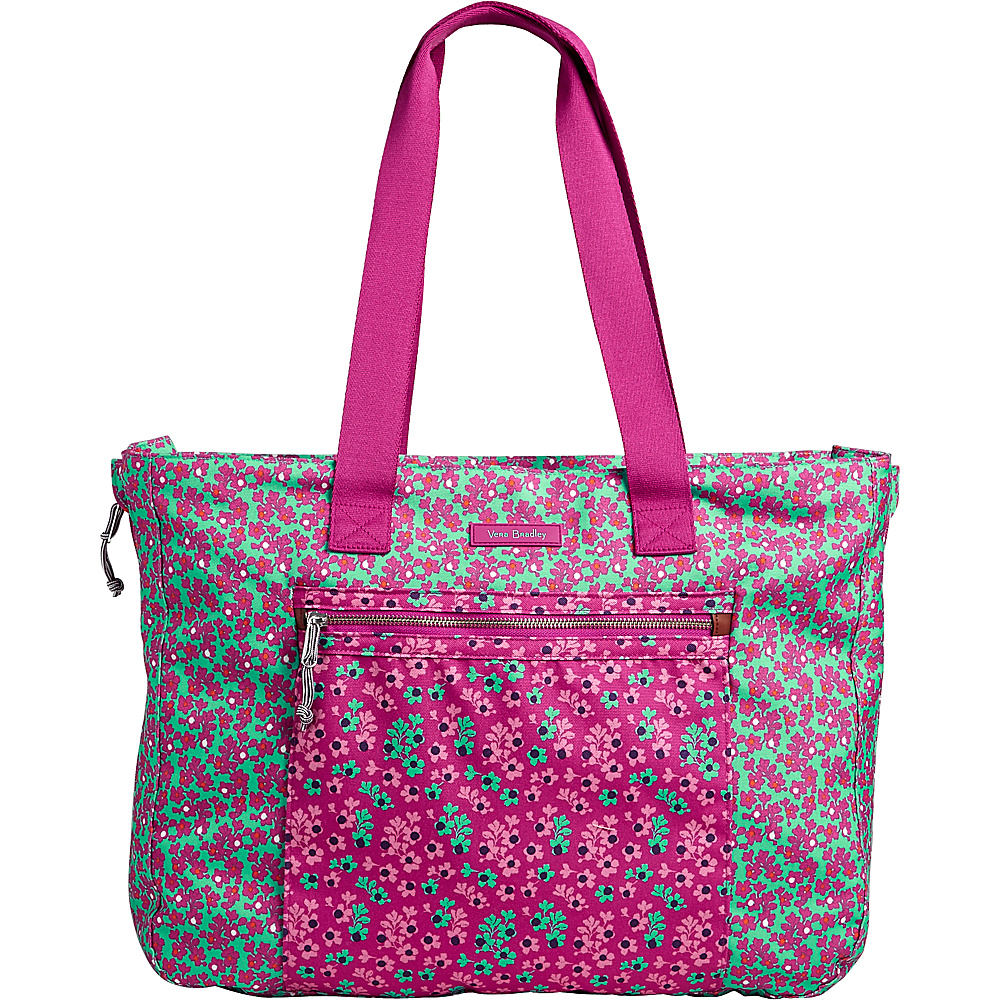 Vera Bradley Lighten Up Expandable Tote Ditsy Dot - Vera Bradley Fabric Handbags - Handbags, Fabric Handbags