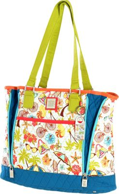 Inky & Bozko Beachy Keen Large Zipper Tote Beachy Tote Beachy Keen - Inky & Bozko Leather Handbags