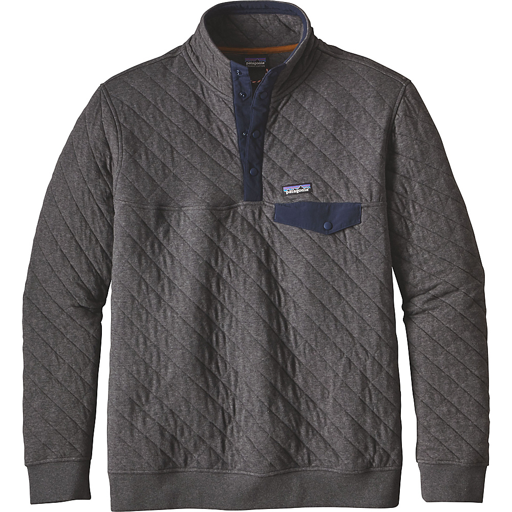 Patagonia Mens Cotton Quilt Snap-T Pullover XXS - Forge Grey - Patagonia Mens Apparel - Apparel & Footwear, Men's Apparel