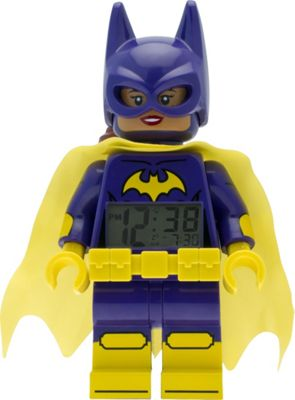 LEGO Watches Batman Movie Batgirl Minifigure Light Up Alarm Clock Purple - LEGO Watches Travel Electronics