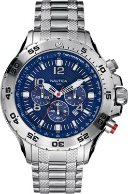 Nautica Watches Mens NST Stainless Steel Chronograph Watc...