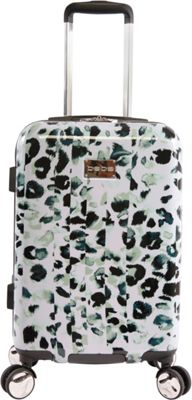 BEBE Abigail 21 inch Hardside Spinner Carry-On Luggage Winter Leopard - BEBE Hardside Carry-On