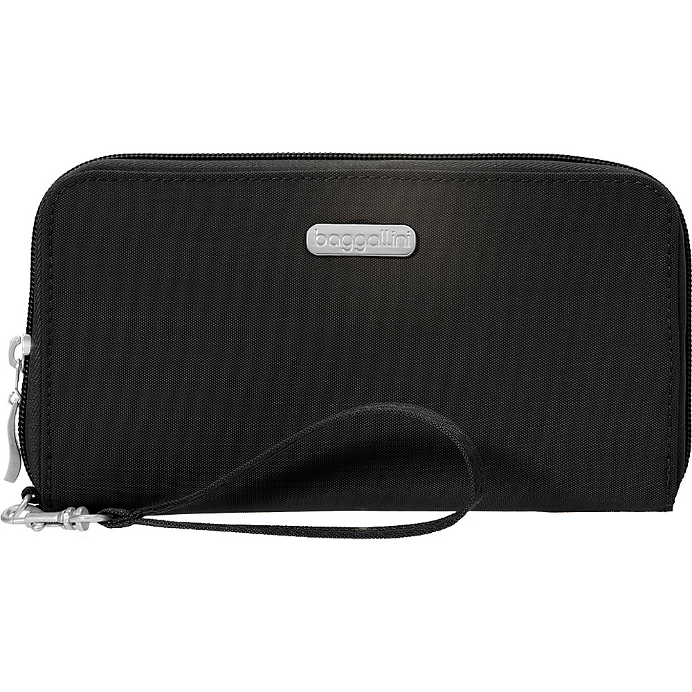 baggallini RFID Continental Wallet Black/Sand - baggallini Fabric Handbags - Handbags, Fabric Handbags