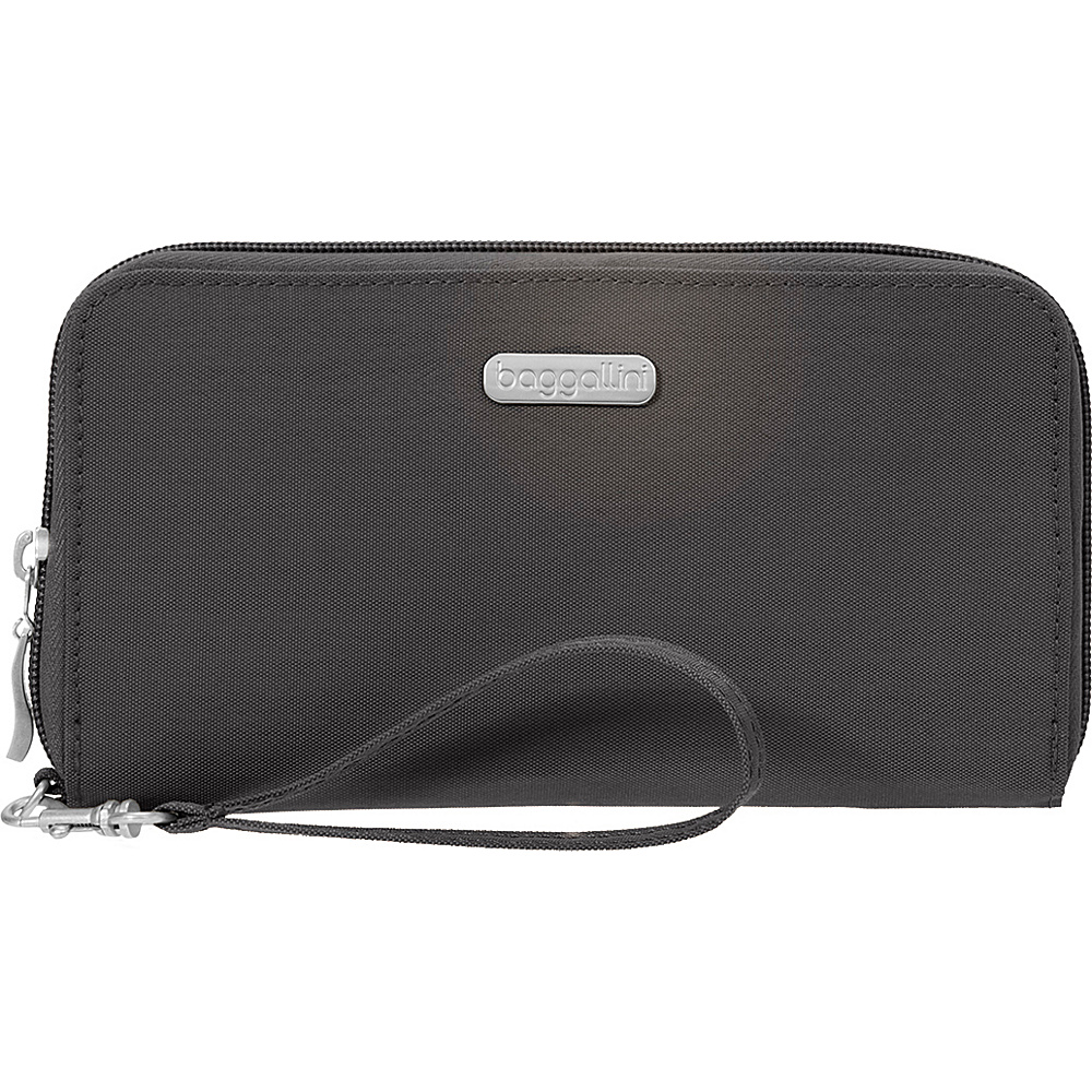 baggallini RFID Continental Wallet Charcoal - baggallini Fabric Handbags - Handbags, Fabric Handbags